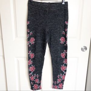 Free People Floral Knit Leggings Size Large